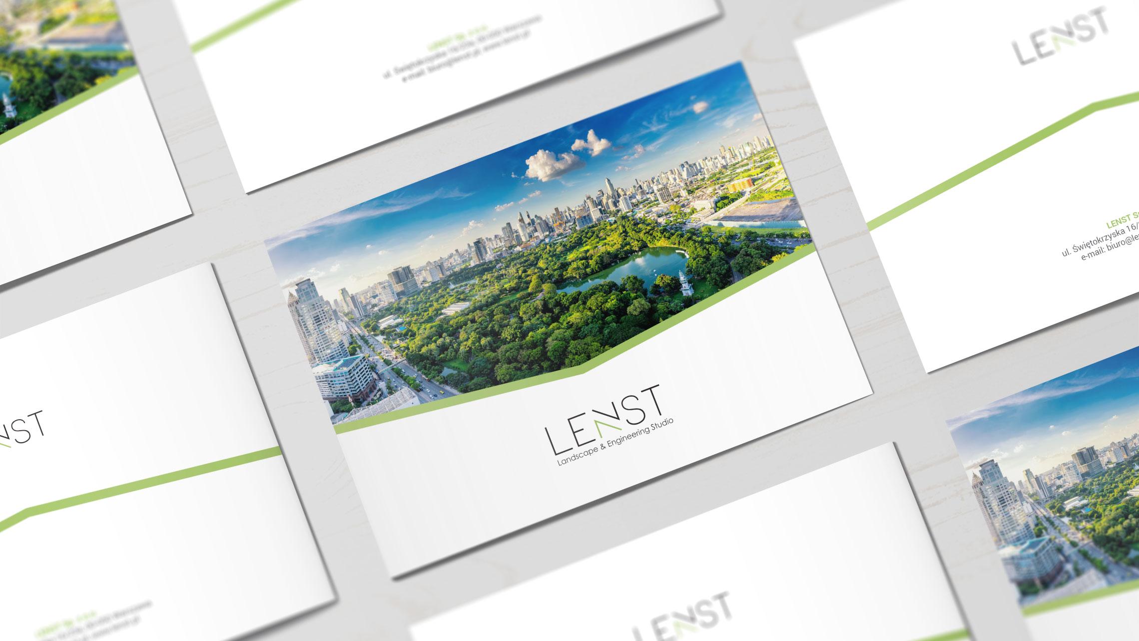 Projekt iprodukcja folderu reklamowego dla firmy Lenst