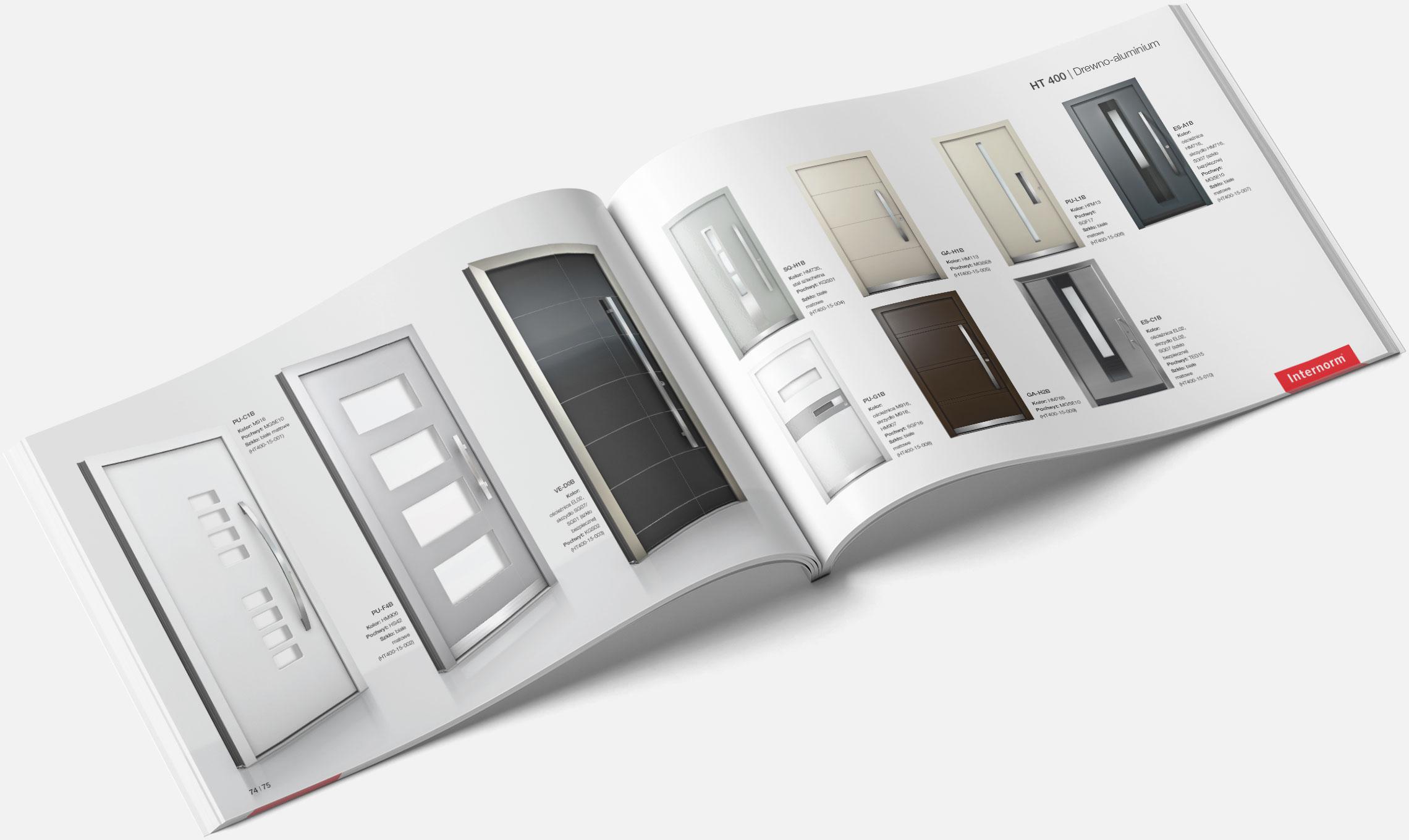 Katalog produktowy Internorm - rozkładówka