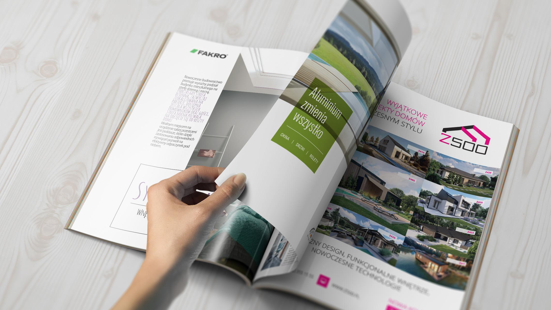 Przykładowe reklamy prasowe zrealizowane przezAlpaca Studio