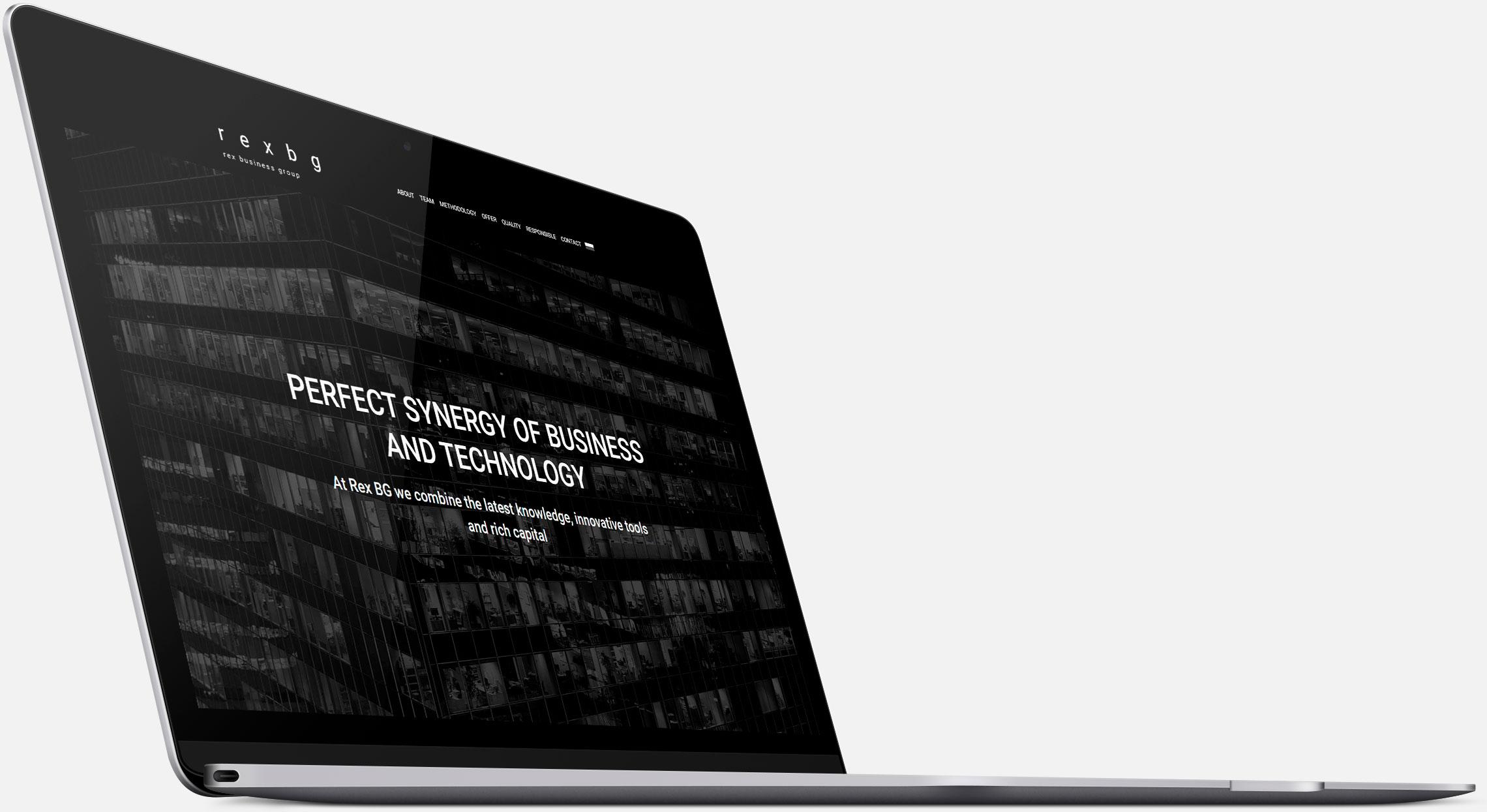 Strona internetowa Rex BG wwersji naurządzenia desktopowe