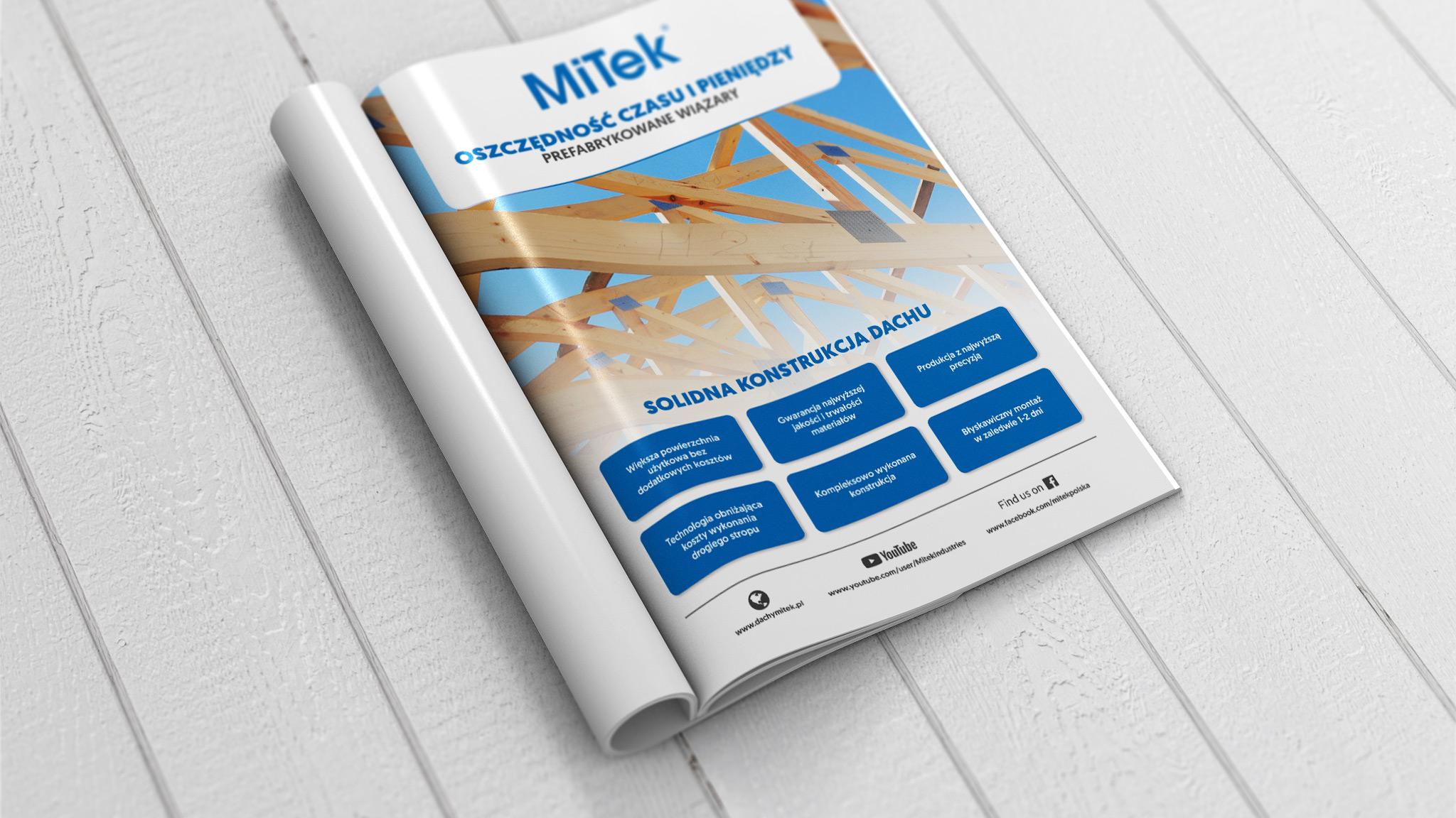 Projekt graficzny reklamy prasowej dla firmy Mitek Industries