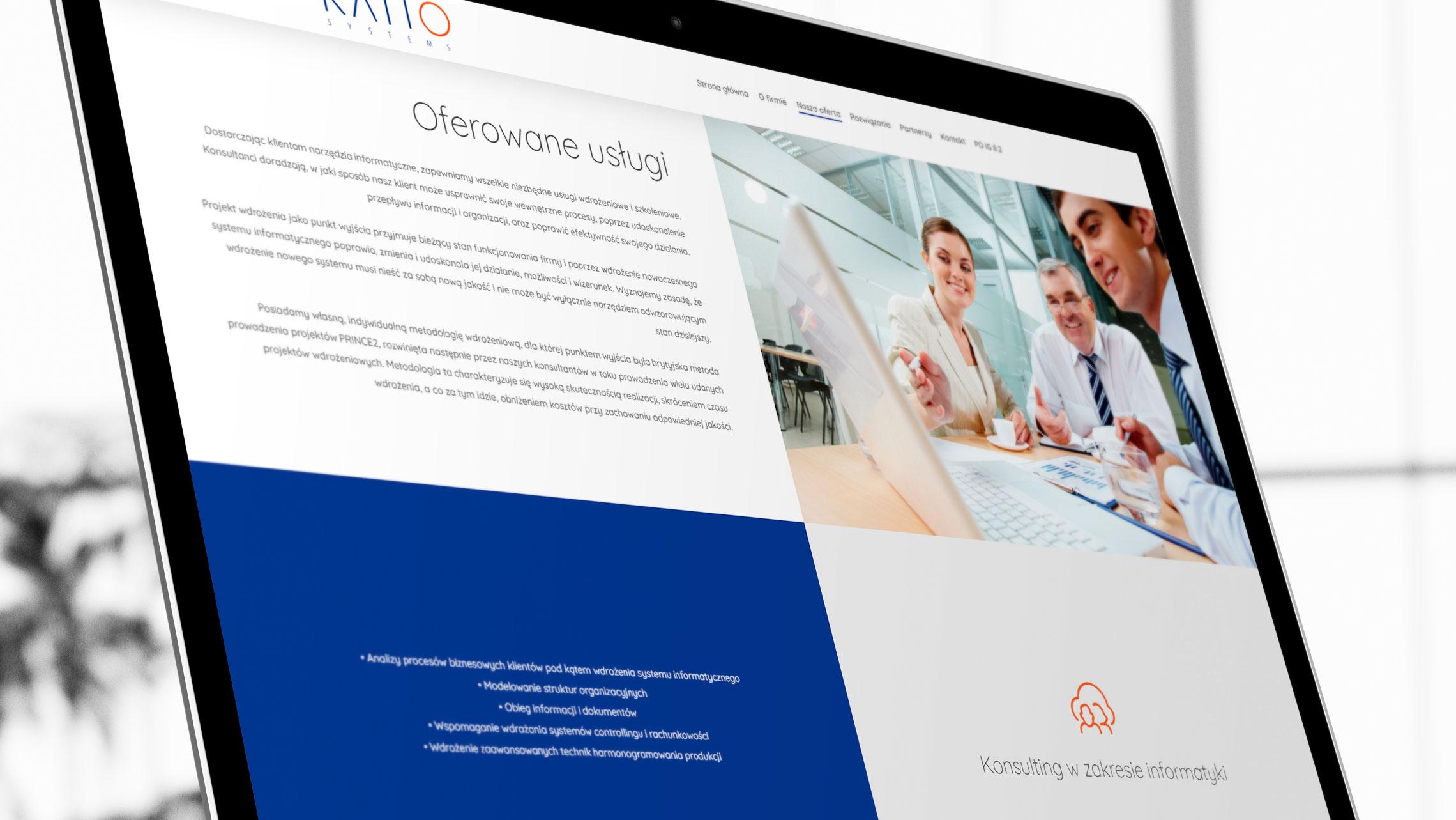 Sekcja oferta nastronie internetowej Ratio Systems