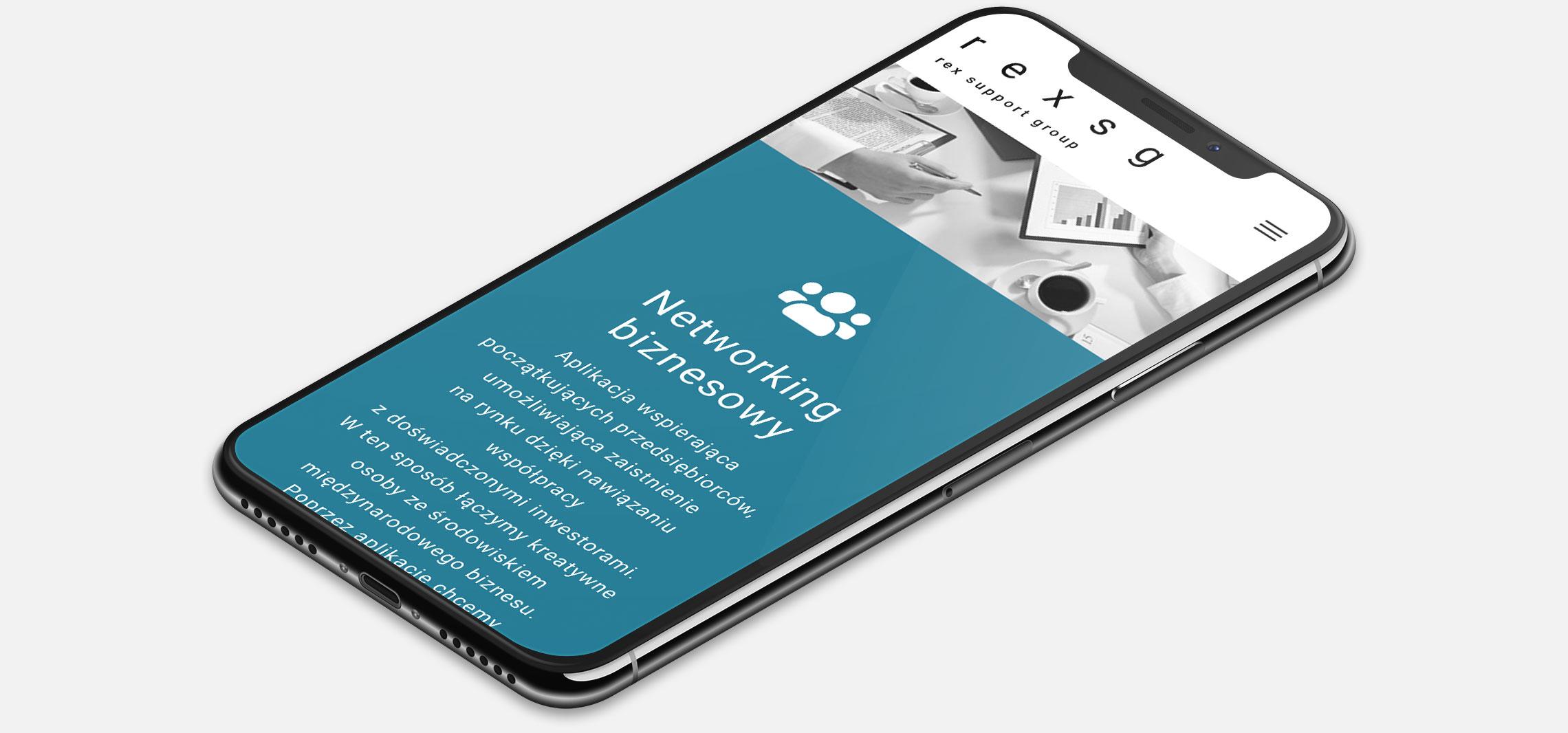 Strona internetowa Rex SG wwersji naurządzenia mobilne (smartfon)