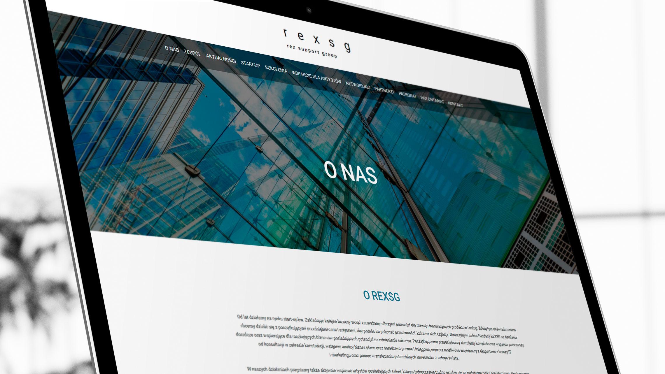 Sekcja onas nastronie internetowej fundacji Rex SG