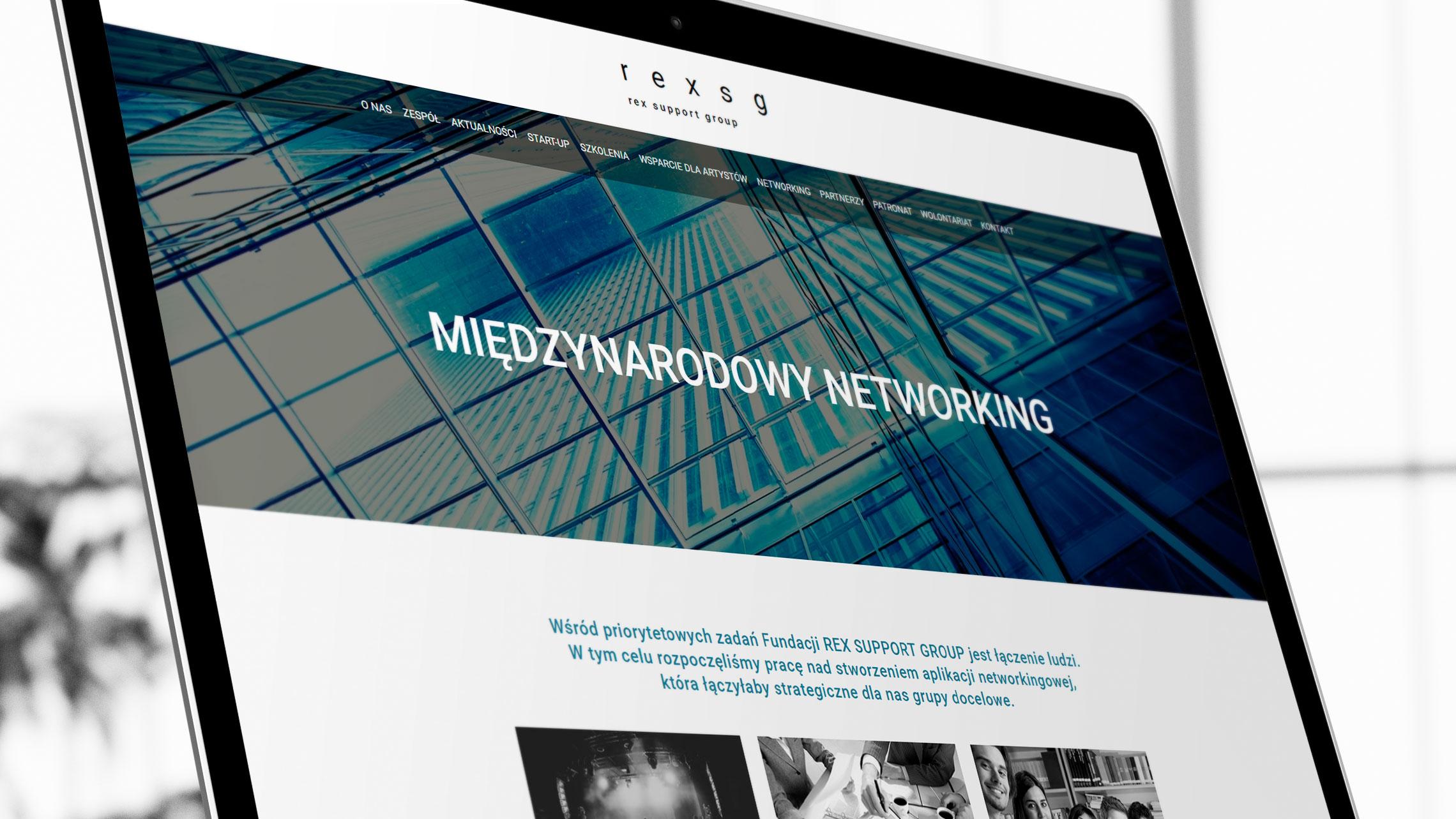 Sekcja międzynarodowy networking nastronie internetowej fundacji Rex SG