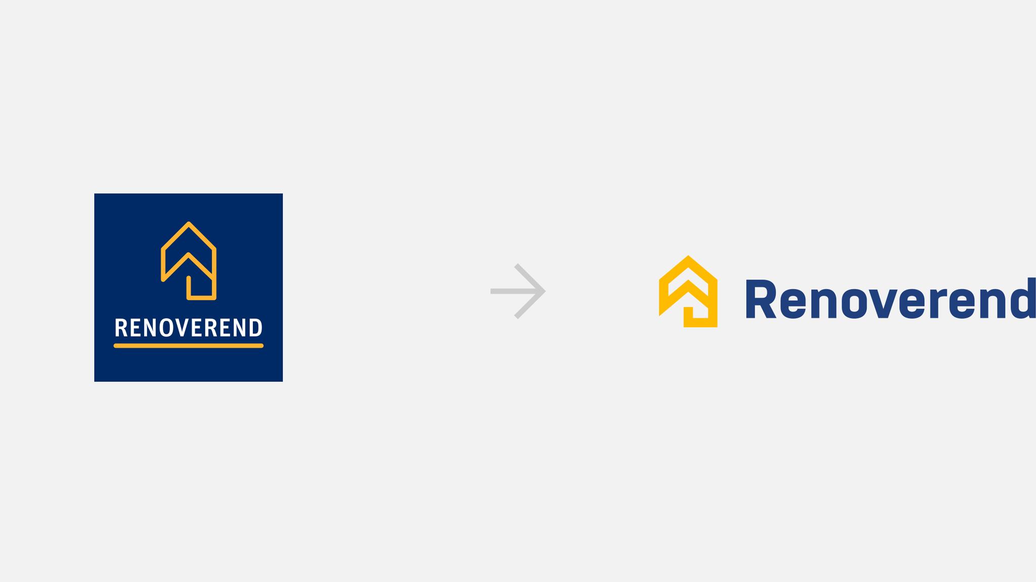 Lifting graficzny logo Renoverend - porównanie wersji