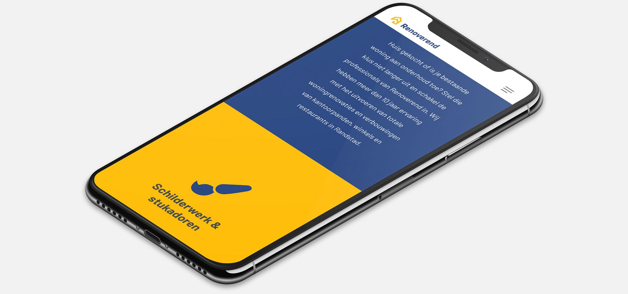 Strona internetowa Renoverend wwersji naurządzenia mobilne - smartfon, tablet