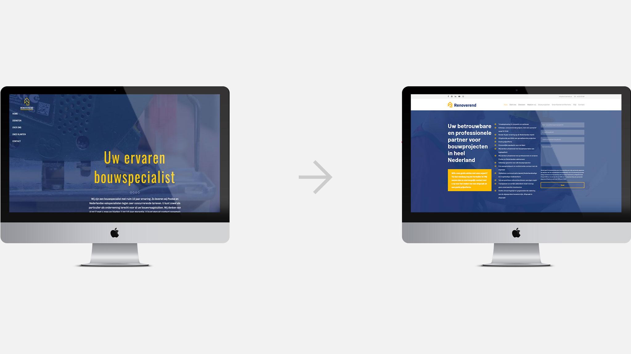 Porównanie dotychczasowej wersji strony internetowej icałkowicie nowej odsłony