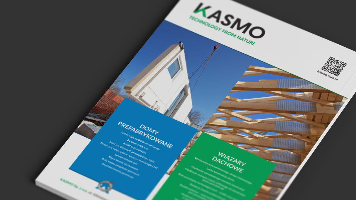 Projekt graficzny reklamy prasowej dla firmy Kasmo